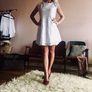 """No Boundaries"" White Lace Dress"
